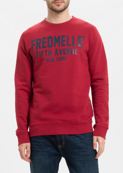Красный свитшот Fred Mello с логотипом, фото