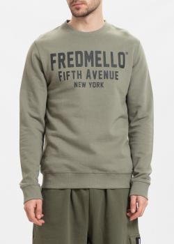 Свитшот Fred Mello цвета хаки, фото