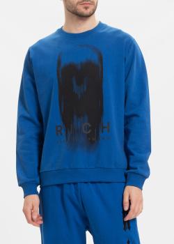 Синий свитшот John Richmond с принтом, фото