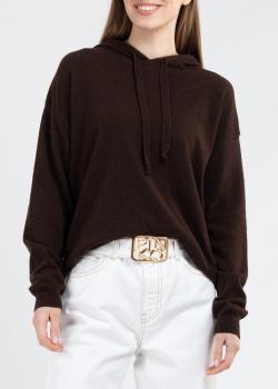Трикотажное худи Kontatto темно-коричневого цвета, фото
