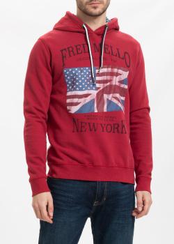 Худи красного цвета Fred Mello с флагом, фото