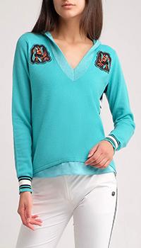 Толстовка с капюшоном Sportalm бирюзового цвета, фото