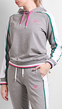 Спортивный свитшот Ea7 Emporio Armani с капюшоном, фото