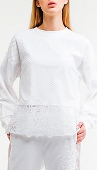 Свитшот Ermanno Scervino белого цвета, фото