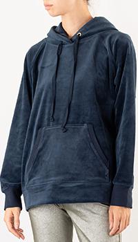 Синяя толстовка Juicy Couture с капюшоном, фото