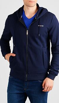 Толстовка с принтом Roberto Cavalli темно-синего цвета, фото