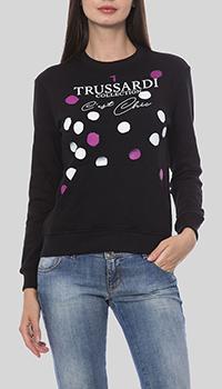 Черный свитшот Trussardi Collection в горох, фото
