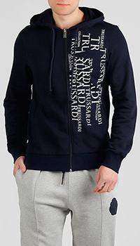Черная толстовка Trussardi Jeans с надписями, фото