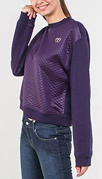 Фиолетовый свитшот Love Moschino с металлическим декором, фото
