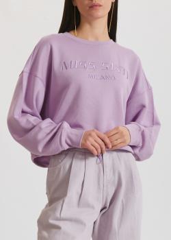 Укороченный свитшот Miss Sixty сиреневого цвета, фото