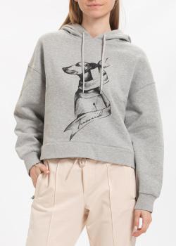 Худи Trussardi Jeans с собакой серого цвета, фото