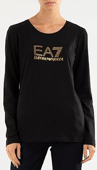 Черный свитшот Emporio Armani с логотипом, фото