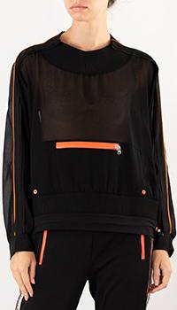 Черный свитшот Patrizia Pepe с карманом спереди, фото