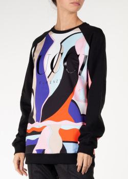 Свитшот из хлопка Emilio Pucci с фирменной надписью, фото
