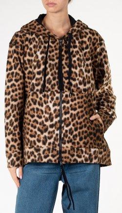 Толстовка на молнии N21 с леопардовым принтом, фото