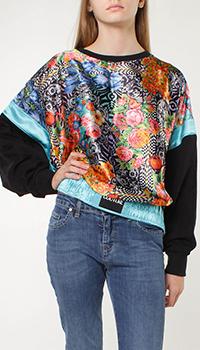Свитшот Versace Jeans Couture с цветочным принтом, фото