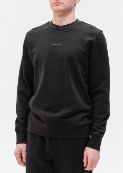 Черный свитшот Calvin Klein с маленьким логотипом, фото
