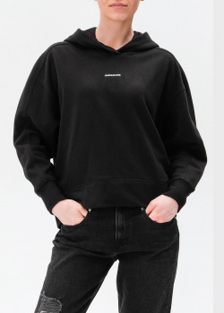 Черное худи Calvin Klein с логотипом, фото