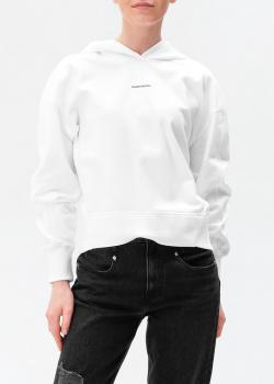 Худи-оверсайз Calvin Klein белого цвета, фото