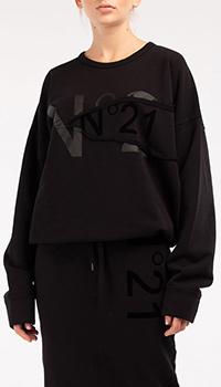 Свитшот N21 черного цвета, фото