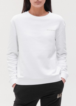 Белый свитшот Emporio Armani с принтом на спине, фото