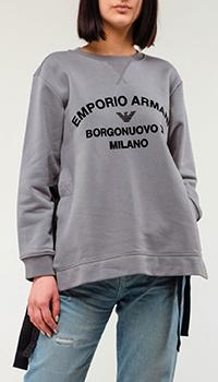 Свитшот Emporio Armani серого цвета, фото