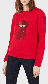 Красный свитшот Emporio Armani с пайетками, фото