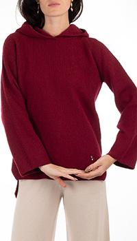 Кашемировое худи GD Cashmere в бордовом цвете, фото