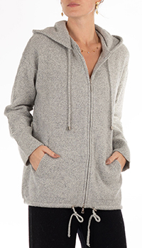 Кашемировое худи GD Cashmere светло-серого цвета, фото