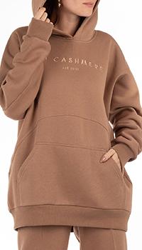 Худи с начесом GD Cashmere коричневого цвета, фото