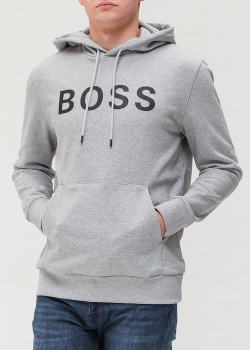 Серая толстовка Hugo Boss с принтом, фото