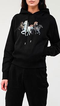 Женское худи Kenzo с рисунком лошадей, фото