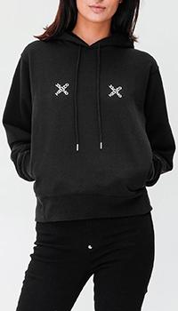 Черное худи Kenzo с карманами, фото