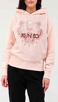 Толстовка Kenzo в нежно-розовом цвете с тигром, фото