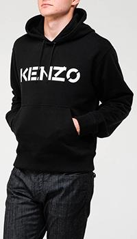 Черная толстовка Kenzo с принтом, фото