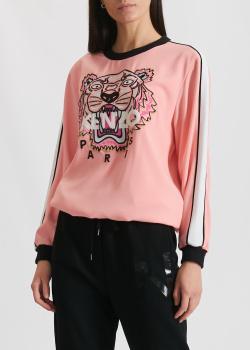 Розовый свитшот Kenzo с контрастной вышивкой, фото
