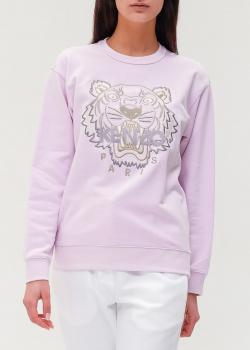 Светло-розовый свитшот Kenzo с брендовой вышивкой, фото