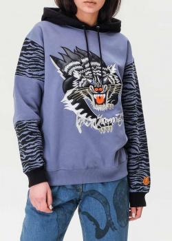 Синее худи Kenzo с изображением тигра, фото