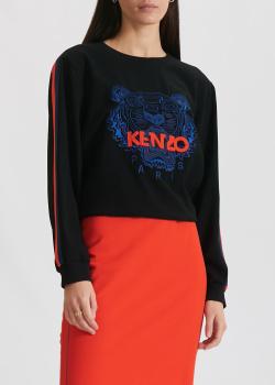Черный свитшот Kenzo с брендовым тигром, фото