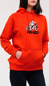 Красное худи Kenzo с рисунком мыши, фото