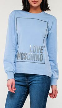 Свитшот Love Moschino голубого цвета, фото
