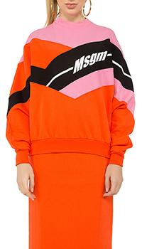 Розовый свитшот MSGM с принтом, фото