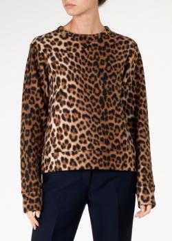 Свитшот из хлопка N21 с леопардовым принтом, фото