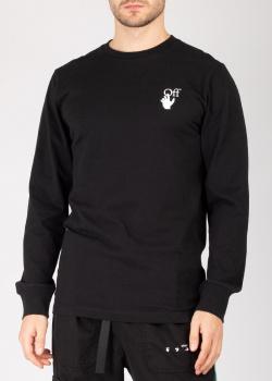 Черный свитшот Off-White с принтом, фото