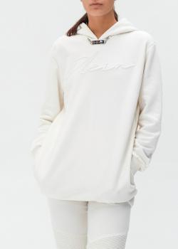 Белое худи Philipp Plein с фирменной вышивкой, фото