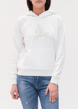 Белое худи Polo Ralph Lauren с вышивкой бисером, фото
