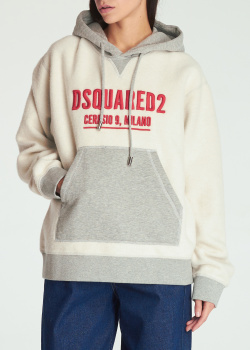 Утепленное худи Dsquared2 с капюшоном, фото