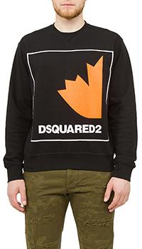 Мужской свитшот Dsquared2 черный с принтом, фото