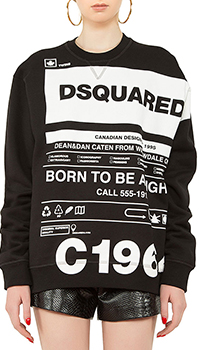 Свитшот Dsquared2 с брендовым логотипом, фото