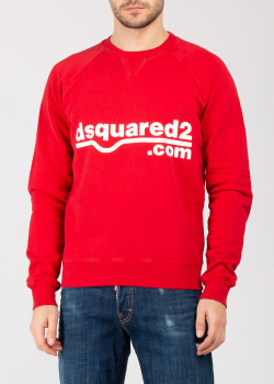Красный свитшот Dsquared2 с логотипом, фото
